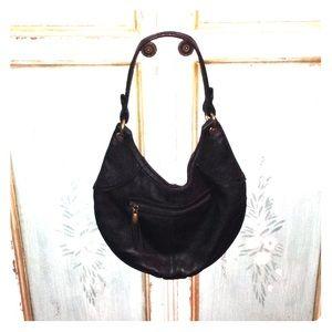 Gap black leather shoulder bag